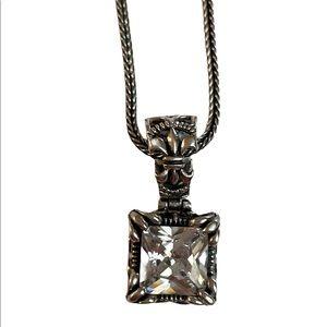 Beautiful 925 silver pendant w/ 925 silver chain